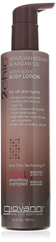 (Giovanni 2chic Brazilian Keratin and Argan Oil Ultra-Sleek Body Lotion, 8.5 Fluid Ounce)