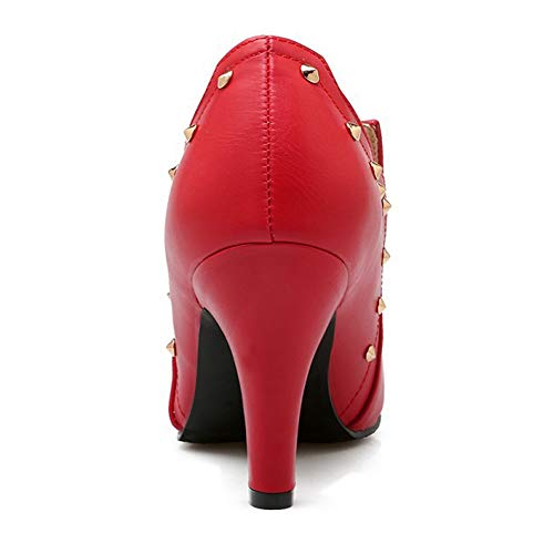 und Herbst Absätze Lädt Stiefel Blanke Spitzen Große Art Weiseaufladungen Stiefel Frauen Größen auf Hohe CITW Frauen Niet FEqdCxw86w