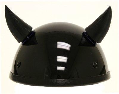 Black Stick On Helmet Horns (2 horns included)