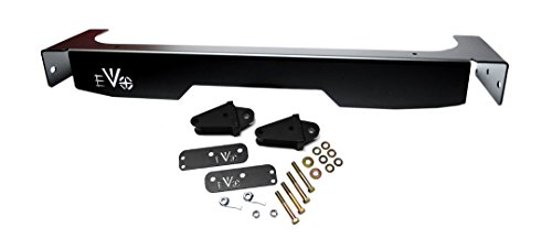 EVO MFG JK Rear Steel Fascia and D-Ring Mounts - Fascia Rear Bumper