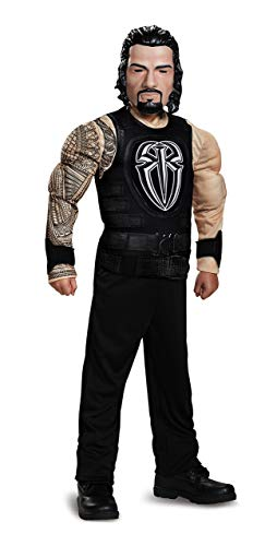 Roman Reigns Classic Muscle WWE Costume, Black, Small (4-6)