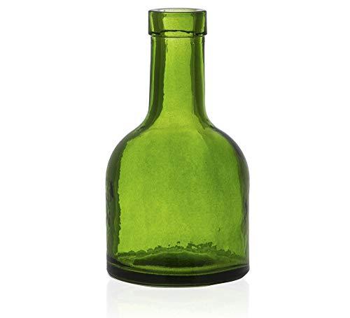 Vaso Botella Etna Verde 15cm