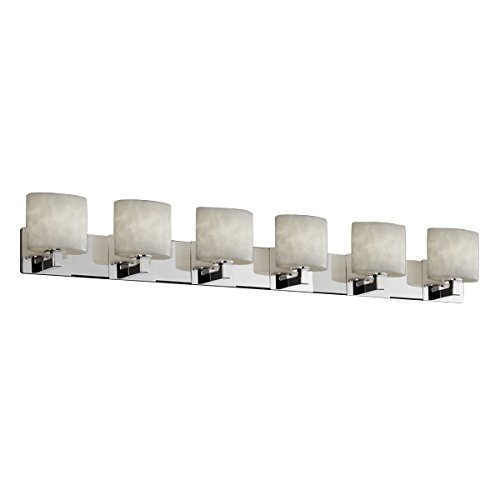Justice Design Group Clouds 6-Light Bath Bar - Polished Chrome Finish with Clouds Resin Shade