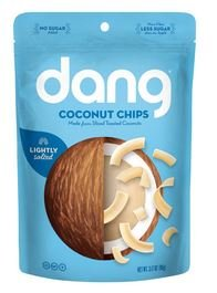 Dang Coconut Chips Lightly Salted and Unsweetened, 3.2 oz, (12 count)