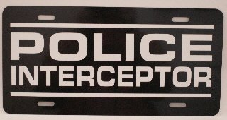 Motown Automotive Design POLICE INTERCEPTOR Metal License Plate