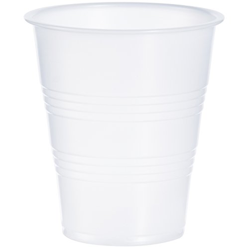 Dart Y7 7 oz Trans Ribbed Wall PS Cup (Case of 2500) ()