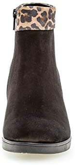 Gabor Women Bootee, Ankle Boot 32.860, Ladies Boots,Ankle Boots,Bootie,Zipper,Schwarz/savan(Mic),35.5 EU / 3 UK