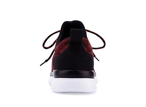 Red Lace Breathable Womens Wine CHUI Sneakers Sports Shoes Lightweight Fashion up CqvFBFtUw