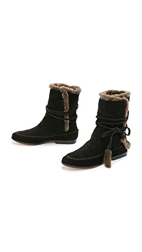 Black Hustle Boots Cynthia Vincent Shearling brown Women's X0HqxOwWpR