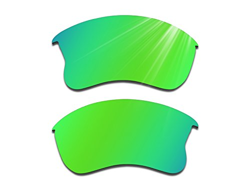 Glintbay Harden Coated Replacement Lenses for Oakley Flak Jacket XLJ Sunglasses - Polarized Green - Flak Jackets Golf Oakley Lenses