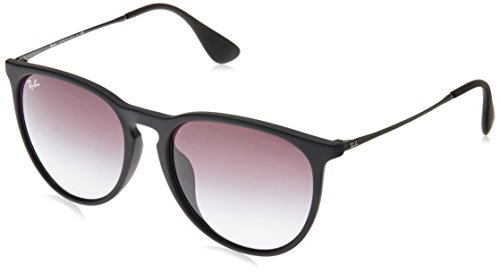 Ray-Ban Women's RB4171F Erika Sunglasses Black Rubber / Grey Gradient - Grey Erika