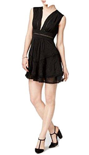 Mare Mare Anya Embroidered Tiered Dress Black - Dress Anya