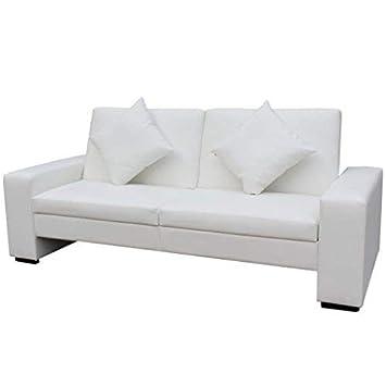Daonanba Canapé Lit Confortable Design Contemporain Cadre En Bois Blanc