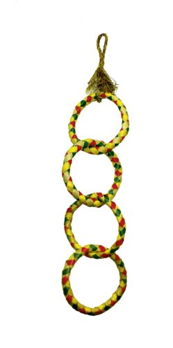 Jungles Toys 03147 Four Ring Chain Bird Toy for Canaries, Parakeets and Parrots