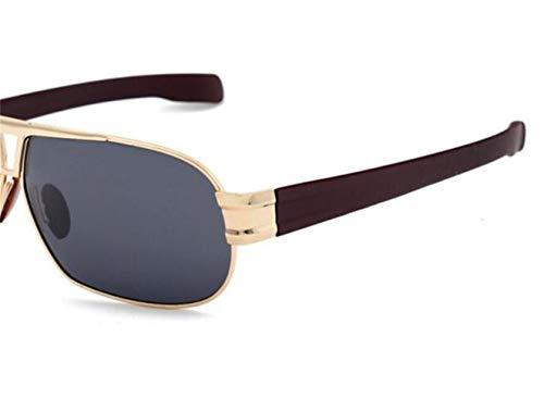 soleil soleil lunettes protection conduisant Lunettes l'extérieur métal de lunettes de en Cadre unisexe polarisées Golden UV400 FlowerKui pour de wpxqZ0n