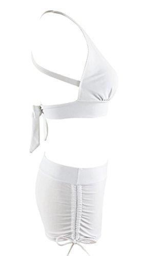 f7f2b094d Zando Halter Bikini Set with Boyshort Push up 2 Piece Swimsuit Bating Suit  for Women