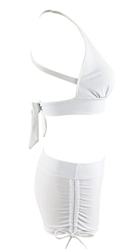 Zando Halter Bikini Set with Boyshort Push up 2 Piece Swimsuit Bating Suit for Women