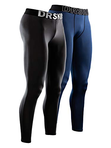 DRSKIN 2 Pack Men's Compression Pants Dry Cool
