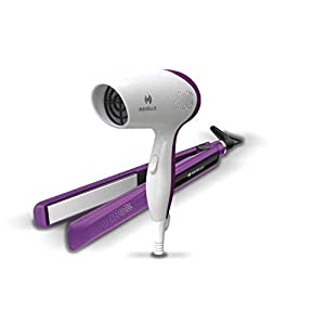 Havells HC4025 Limited Edition Styling Pack Combo (Dryer + Straightener) (Purple)