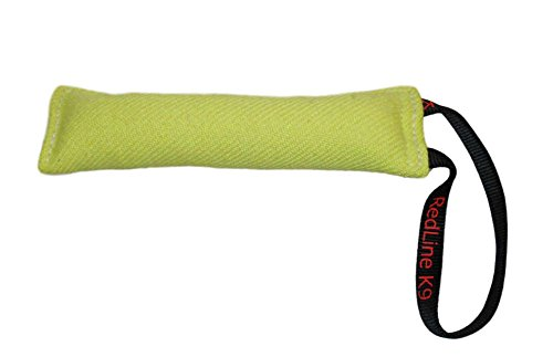 Lime Green Bite Suit Tug Toy (3 inch X 10 inch) 1 Handle - Redline K9