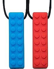 Tilcare Chew Chew Sensory Necklace - bäst för barn eller vuxna som gillar att bita eller har autism - perfekt texturerade silikon leksaker - tuggande hänge för pojkar och flickor - tugghalsband
