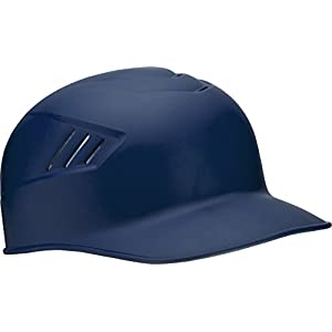 Rawlings Coolflo Matte Style Alpha Sized Base Coach Helmet, Navy, Medium