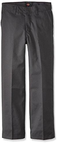 Dickies Big Boys' Classic Flat Front Pant, Charcoal, 12 Regular