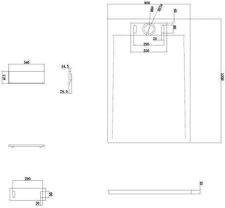 Solid Stone - Blanc Mat 120x80x3,5cm Bernstein Badshop Receveur de Douche rectangulaire PB3084 en Pierre Solide