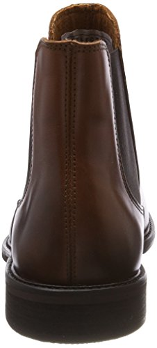Uomo Shdbaxter Marrone Leather Noos Chelsea Selected Stivali Boot cognac ZYwZdz