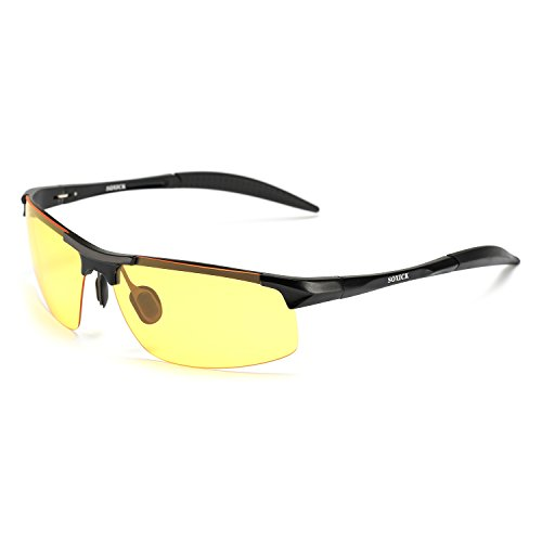 HD Night Driving Glasses Polarized Anti-glare Rain Day Night Vision Sunglasses (black-1, - Rain The Sunglasses In