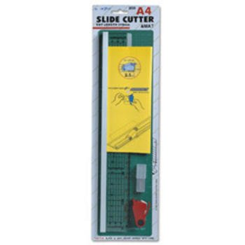Trimits JE33 Impex A4 Slide Cutter, Mat & Spare Blades Cut 2.5mm Deep/310mm Long