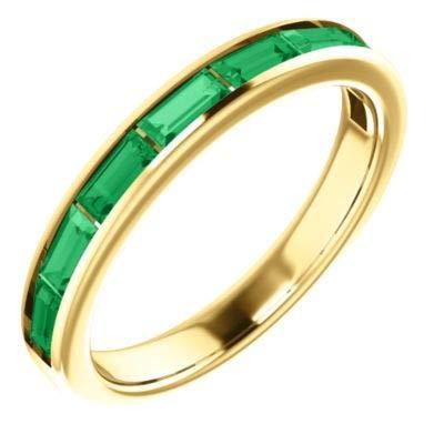 Chatham Created Emerald Ring - 4