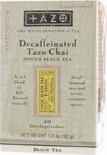 Tazo Decaffeinated Latte Chai Tea, 32 Ounce - 6 per case.