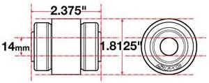SPC Performance 15616 xAxis Rear Sealed Flex Joint for Jeep JK