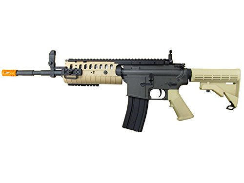 jg full metal gearbox desert tan aeg w/ integrated rail and high performance tight bore barrel - newest enhanced model by jg(Airsoft Gun)