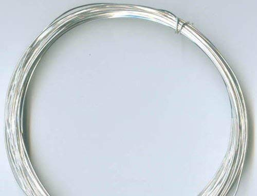 26 Gauge .925 Sterling Silver Dead Soft Wire, Round - 20 Feet_ From RawTreasures