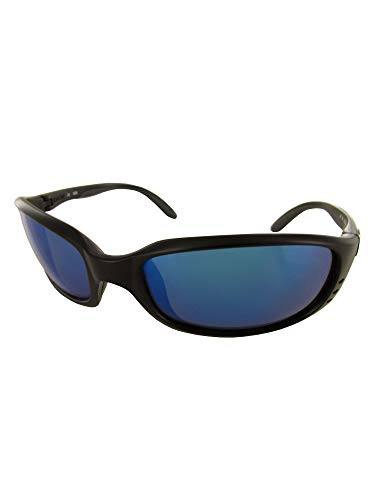 Blue Mirror Glass Polarized - Costa Del Mar Brine Polarized Sunglasses, Black, Blue Mirror 580Glass
