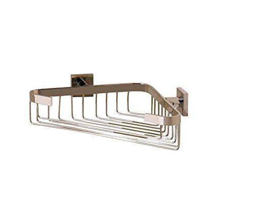 Valsan 67689ES - Braga Satin Nickel Corner Soap Basket (Soap Valsan Basket)