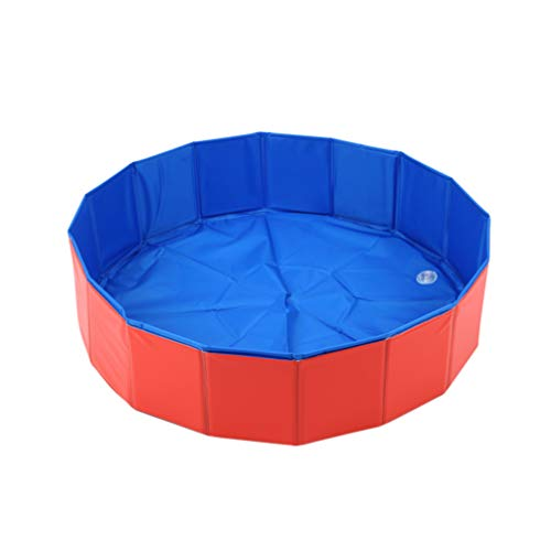 POPETPOP-Foldable-Dog-Pool-PVC-Folding-Dog-Cat-Bath-Tub-Collapsible-Pet-Spa-Outdoor-Washing-Tub-Shower-Bath-Basin-for-Kitten-Cats-Dogs-Puppy-Kids-80x20cm