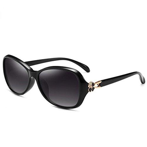 De Cara UV De Gafas Pequeño Polarizadas Protección Marco Sol LIUXUEPING Y De Femenino Gafas Sol De Pequeño Modelo Rostro Elegante De Y Rostro Gafas Femenino Pequeño Sol Pequeño Pr Negro De Marco Larga UV400 Hdx00wB6q