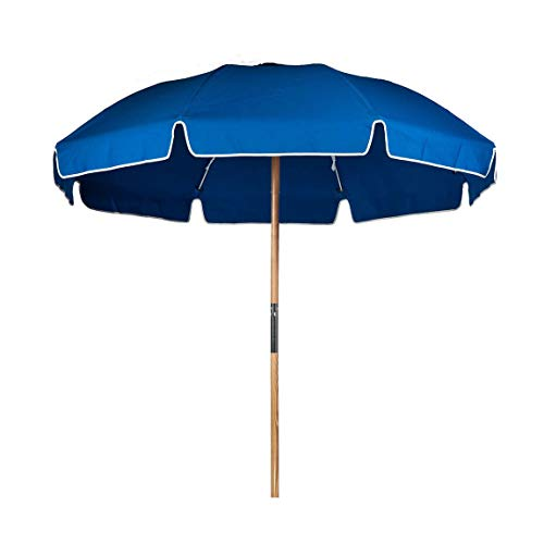 7.5 ft. Fiberglass Commercial Grade Beach Umbrella with Ashwood Pole/Olefin Fabric/Carry Bag
