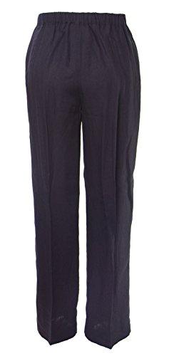 Marina Rinaldi Women's Renna Casual Flax Pants, Navy, 12W/21 by Marina Rinaldi by Max Mara (Image #2)
