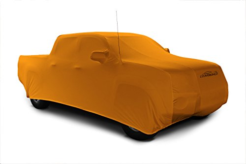 Coverking Custom Car Cover for Select Toyota Pickup Models - Satin Stretch (Rust Orange)