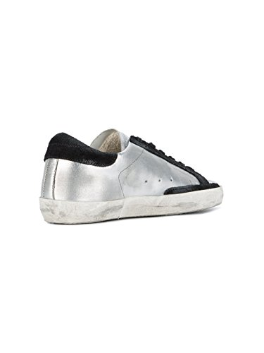 Golden Goose Sneakers Donna GCOWS590A8 Pelle Argento/Nero