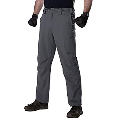 FREE SOLDIER Men's Outdoor Convertible Pants Lightweight Quick Dry Nylon Breathable Tactical Stretch Pants