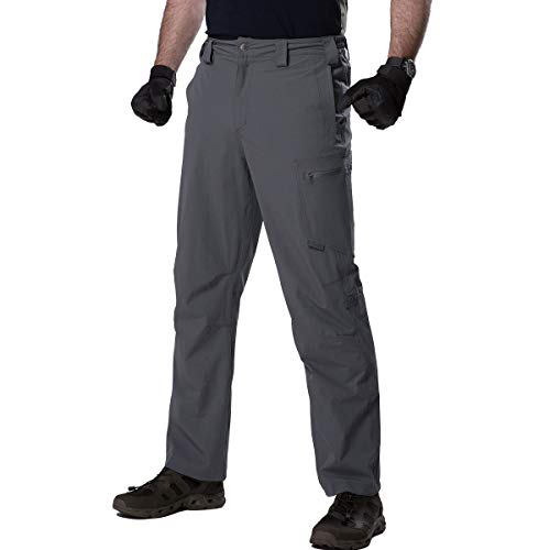 FREE SOLDIER Men's Outdoor Convertible Pants Lightweight Quick Dry Nylon Tactical Pants (Gray Color, 32W)