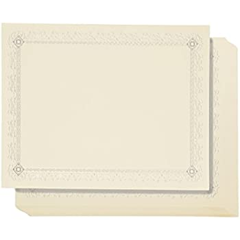 amazon com 48 pack certificate papers letter size blank award
