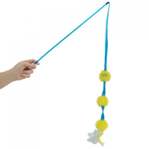 Cosmic Catnip Ball Play Wand, Three's a Crowd, My Pet Supplies
