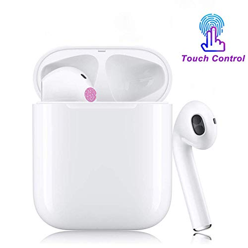 Bluetooth 5.0 Earbuds Wireless Headphones Noise Canceling Stereo Bluetooth Headset with Charging Case 24Hrs Extended Playtime Smart Touch for iPhone Airpod Earphone