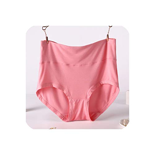 Plus Size 6XL 7XL Women Panties Bamboo Fiber Underwear High Waist Body Briefs Female Panties,Coral - Stretch Bra Barbara
